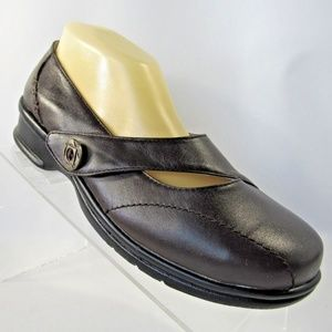 Propet Sz 8 Brown Mary Jane Strap Shoes For Women